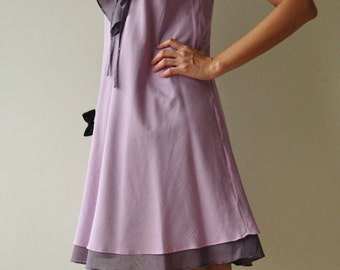 Twist....Purple Cotton dress