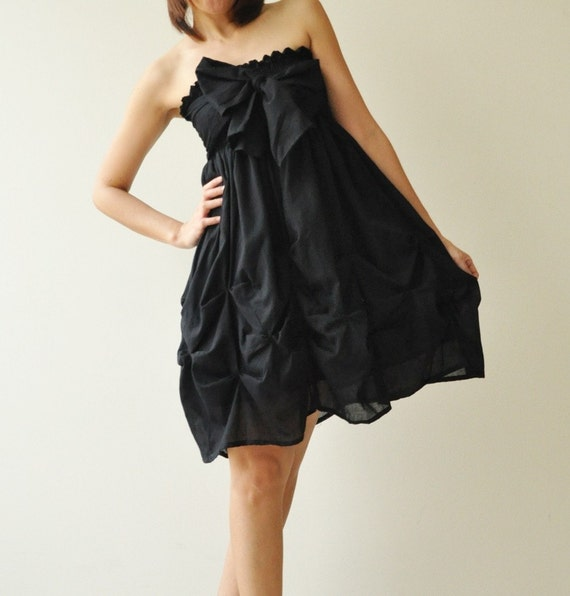 Baby Doll.... Black Cotton Dress/Skirt