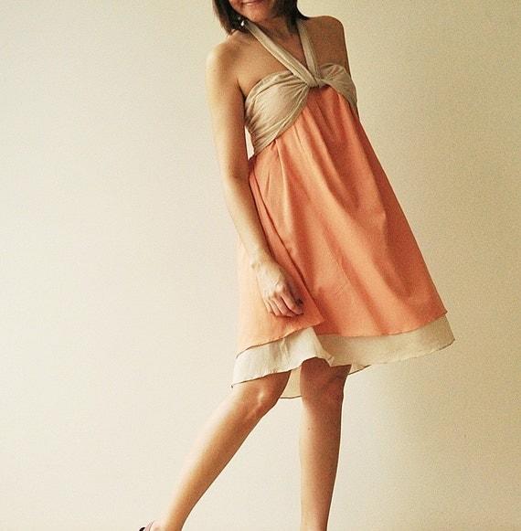 SALE20% Feel So Good - Short ...Orange Halter Maxi Cotton dress