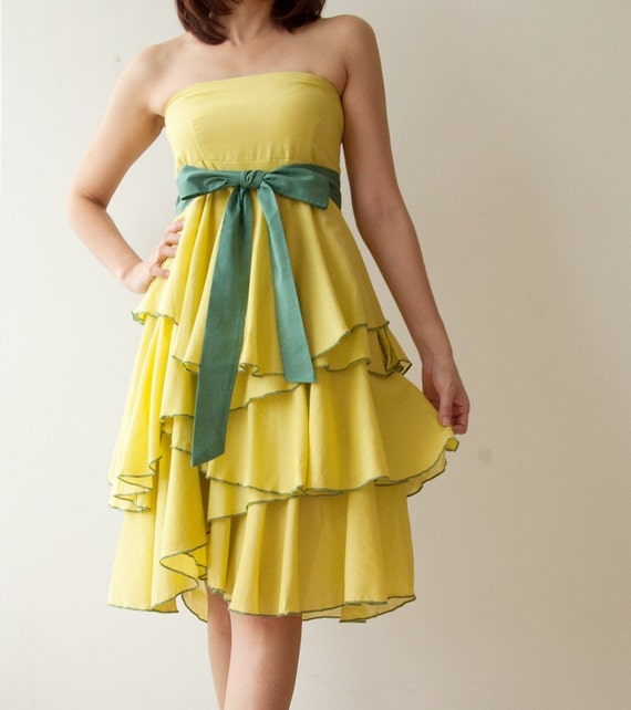 SALE 20% Waft ... Light Green Cocktail Dress 2 Sizes Available