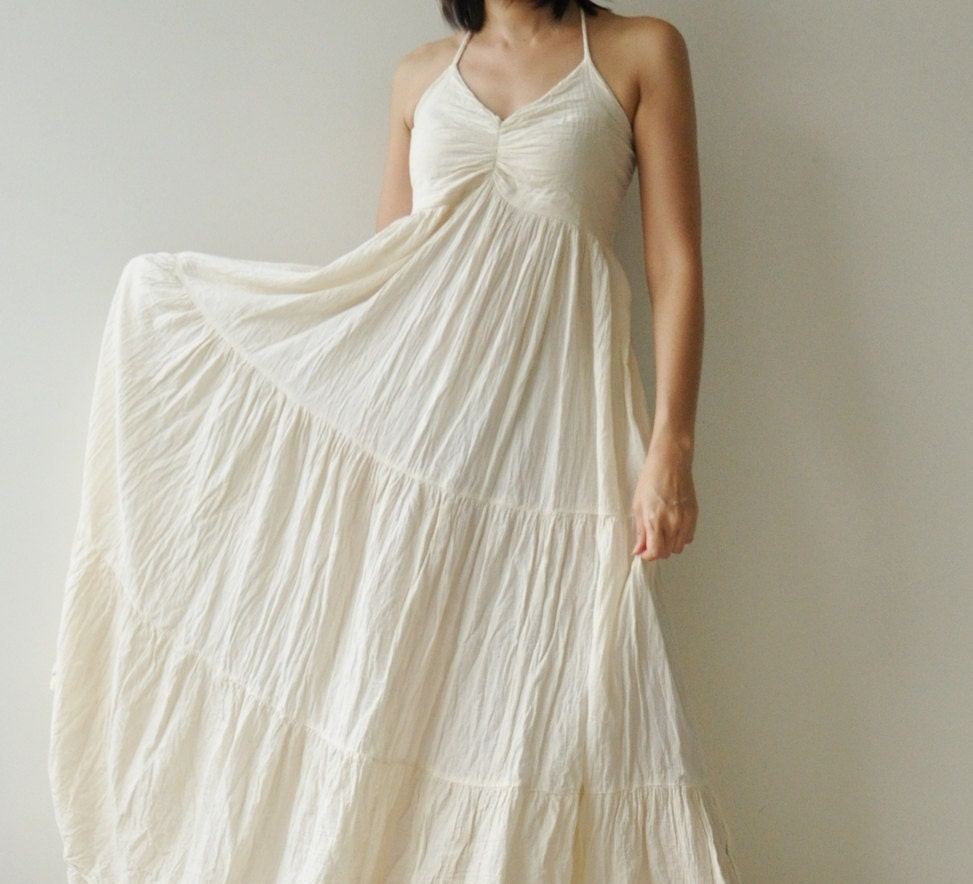 Sea.....Cotton long dress White Summer