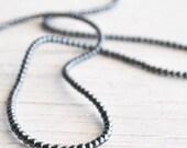 """1 strand 16"""" tiny round hematite 2 mm round beads"""