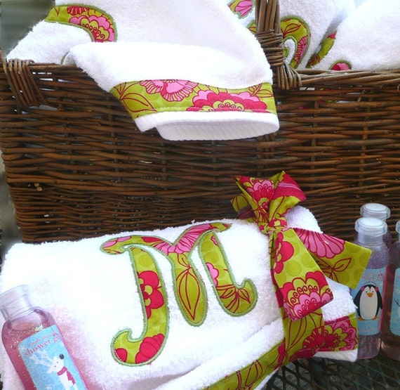 Monogram Towels For Bathroom: Items Similar To Personalized Initial Bath Towel