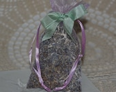 LAVENDER SACHET All Natural Potpourri in Organza Bag  Free Shipping