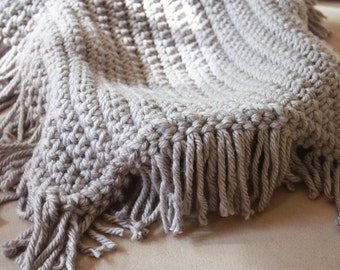 Gray Blanket with Fringe - Newborn Photo Prop Baby Blanket Photography Props Basket Fiiller Basket Stuffer Blanket Prop