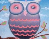 HOOT BABY Owl Print