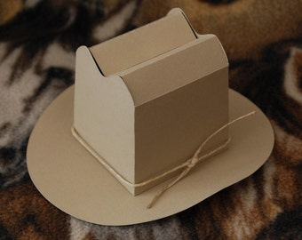 Cowboy Hat Gift or Favor Box