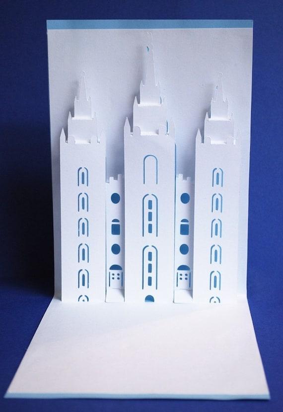 Salt Lake LDS Temple Pop-Up Card