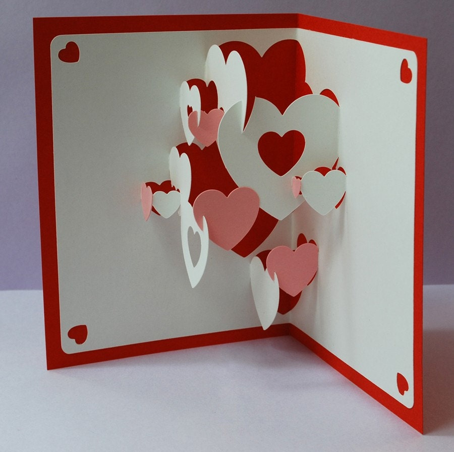 DIY Valentine Heart Collage Pop up Card amp 10 By