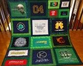 Custom t-shirt quilt - Notre Dame II