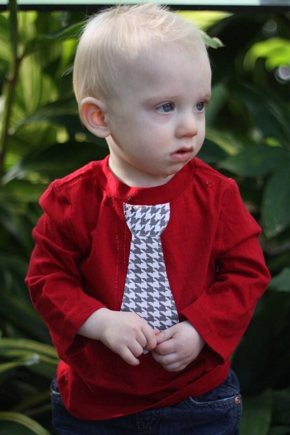 Boy's Valentines Tie Shirt