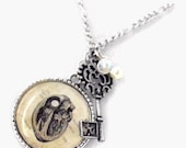 Key to my Anatomical Heart Vintage Style Necklace