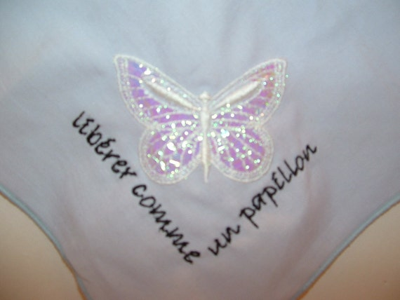 French Mylar Embroidered Butterfly