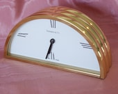 Vintage Tiffany and Co. Brass Mantel Clock