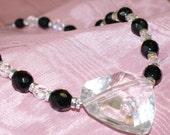 Mylar Heart Necklace AND Bracelet
