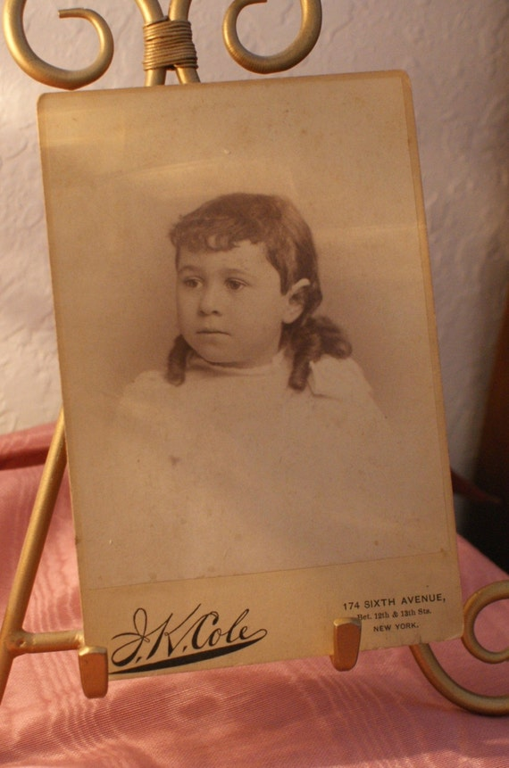 Portrait Little Girl Cabinet Card - NYC