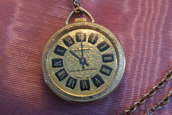 Vintage Lucerne Watch Pendant By Thetreasuredattic On Etsy