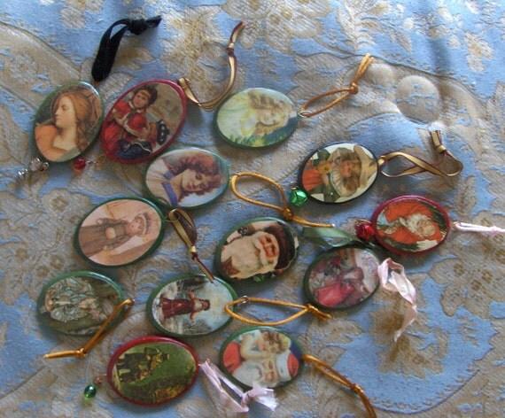 Handmade Victorian Christmas Ornaments -- Baker's Dozen