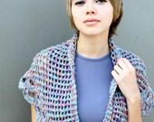 Summer Fashion Hand Knit  Scalloped Lace Shawlette