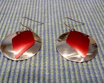 Sterling Silver Earrings With Anodized Aluminum