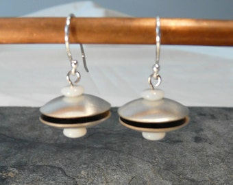 Sterling Silver Flying Saucer Earrings
