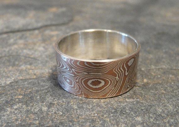 Mokume Gane and Sterling Silver Ring