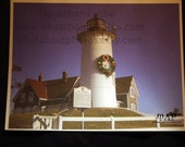 Christmas Lighthouse Postcard Set