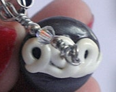 Polymer Clay Chocolate Cupcake Cell Phone Charm w/Strap
