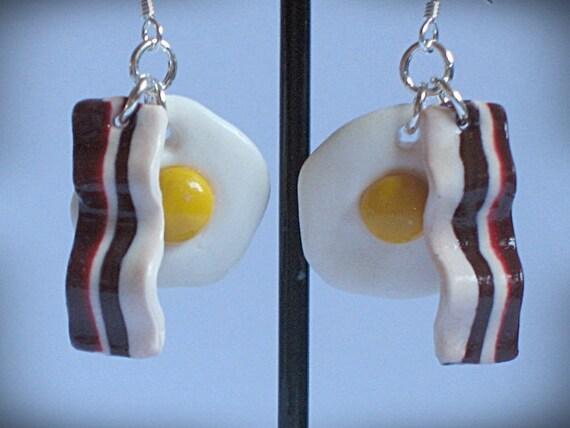 Funky Breakfast Dangle Earrings