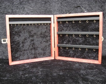 Jewelry Display Case, portable display, wood jewelry display, Square - Custom made
