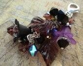 Amethyst, Black, Crystal  Necklace Charm