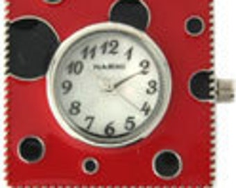Lady Bug Red and Black Watch Face