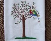 Kite and Tree - Kitchen Flour Sack Towel - Gourmet - Natural Cotton