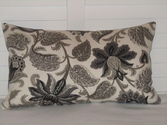 SALE - Outdoor Designer Richloom Solarium - 12x20 (set of 2) - Braxton in Onyx - Pillow Covers Only - JD Designs