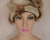 French Cream Faux Fur Hat, Reversible