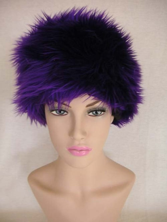 PURPLE, PURPLE PURPLE, soft fuzzy fux fur hat