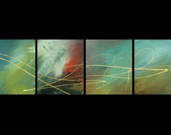 4 ABSTRACT CANVAS PAINTING