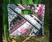 Black and White and Pink Pieced Purse