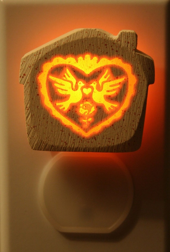 Love Birds House 1/3watt NeonLithic Nightlight