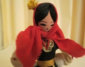 Vintage Traditional Romanian Costume Woman Figurine Doll Souvenir
