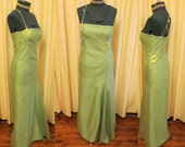 Vintage Green Flower Vine Prom Dress Fig Design Sydney