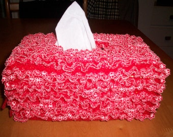 Handmade Knitted Lace Tissue Box Cover Cozy