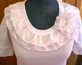 Handmade in Australia Cotton Lace T-shirt