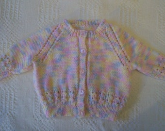 Handmade Knitted Multicoloured Baby Cardigan