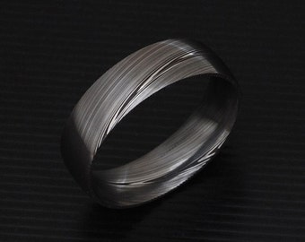 Genuine stainless Damascus Steel Mens Ring PD15