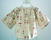 Girls' A - Linen French Blouse - Size 1