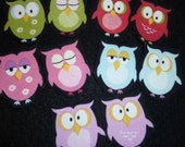 10 Different Owls No Sew Iron Ons