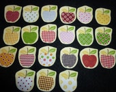 15 mini apples fabric appliques freeshipping