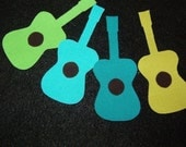 4 guitar fabric applique