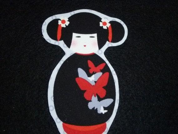 sale 1 geisha japan girl fabric iron on applique